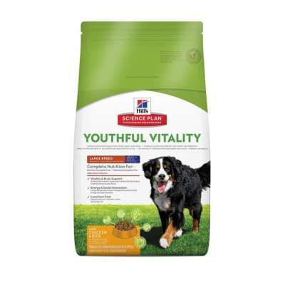 Hill's Science Plan Canine - Adult 5+ Youthful Vitality Large Breed mit Huhn und Reis  10 kg, 2.5 kg