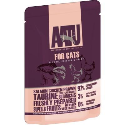 AATU Cat wet -  Salmão, Frango  & Camarões 85 g