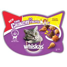 Whiskas Trio Crunchy Treats - Poultry Flavours  55 g