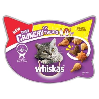 Whiskas Trio Crunchy Treats - Poultry Flavours Duck & Chicken & Turkey 55 g