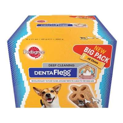 Pedigree DentaFlex Maxi Pack 9x40 g Frango & Cereais & Vegetais