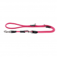 Hunter Adjustable Leash Freestyle Neon Horké růžové