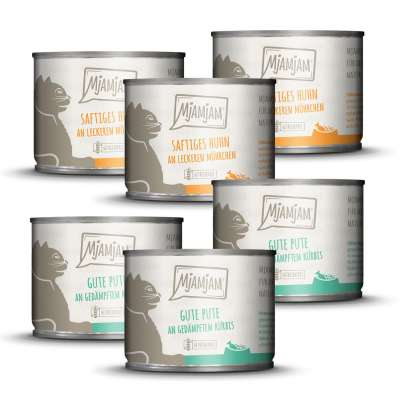 MjAMjAM Mono package I with Chicken and Turkey 12x125 g, 6x200 g, 6x400 g