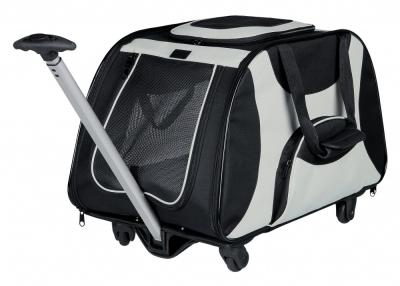 Trixie Trolley Schwarz/Grau 34x43x67 cm