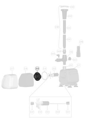 Sera Pond Pumpenkammerdeckel für SP 500 for SP 500