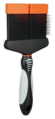 Trixie Softbürste mit flexibler Kopf 10x21  cm Neon orange