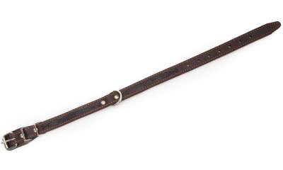 Bark&Bones Collar with textile back and buckle in the middle Maro inchis 41-55x2.5 cm