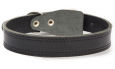 Bark&Bones Leather collar clasp-free  Zwart