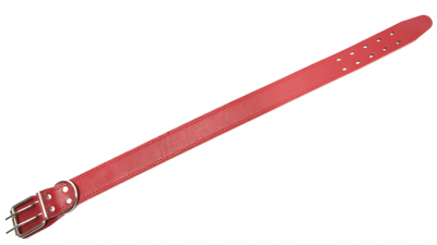 Bark&Bones Collier Simple avec Trous ovales Rouge 65-78x3.5 cm