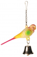 Trixie Toy Parakeet with Chain and Bell Flerfarvet