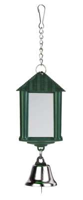Trixie Lantern Mirror with chain and bell 6 cm