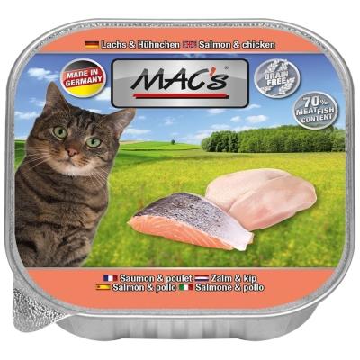 MAC's Cat - Salmão e Frango em Tigela 85 g