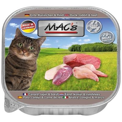 MAC's Cat - Pato, Coelho & Carne de Vaca 85 g