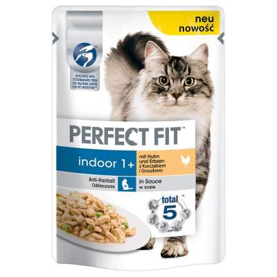Perfect Fit Indoor 1+ with Chicken & Peas 85 g