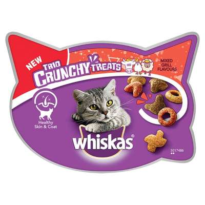 Whiskas Trio Crunchy Treats - Mixed Grill Flavours Chicken & Beef & Lamb 55 g