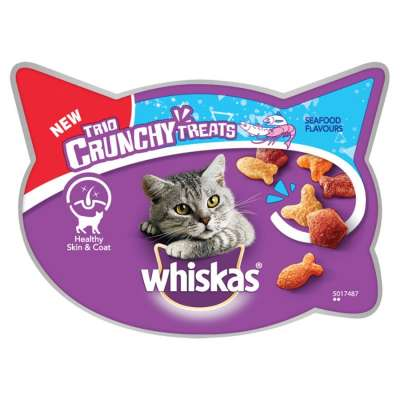 Whiskas Trio Crunchy Treats Seafood Flavours Tuna & Salmon & Prawns 55 g