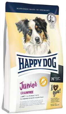 Happy Dog Junior Grainfree 1 kg Siipikarja & Karitsaa & Naudanliha