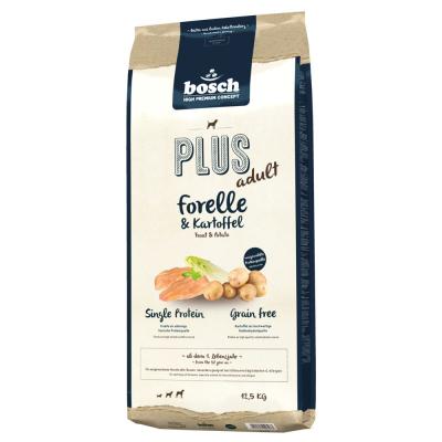 bosch Plus Adult - Forelle & Kartoffel  2.5 kg, 12.5 kg, 1 kg