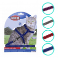 Trixie Cat Harness with Leash, reflecting, nylon 22-42x1 cm
