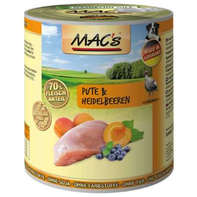 MAC's Dog - Dinde & Myrtille  800 g, 400 g, 200 g