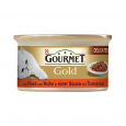 Purina Gourmet Gold Delicatesse in Saus Rund en Kip in Tomatensaus 85 g