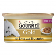 Gourmet Gold - Double Delicacies with Turkey & Duck Purina 85 g