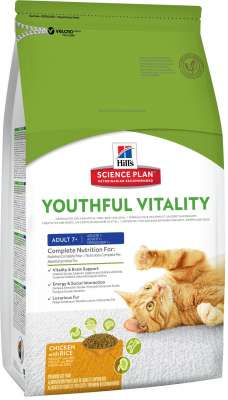 Hill's Science Plan Feline - Adult 7+ Youthful Vitality with Chicken & Rice 6 kg, 250 g, 1.5 kg