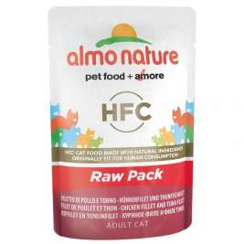 Almo Nature HFC Raw Pack File de Pui și File de Ton  55 g