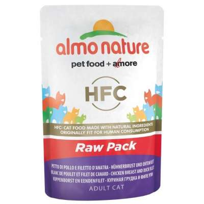 Almo Nature HFC Raw Pack Hühnerbrust und Entenfilet 55 g