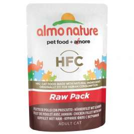 Almo Nature HFC Raw Pack Chicken File cu Șuncă  55 g