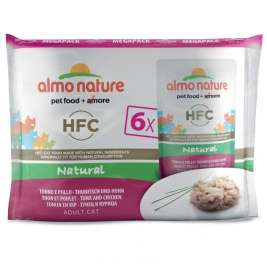 Almo Nature HFC Natural Ton și Pui  6x55 g