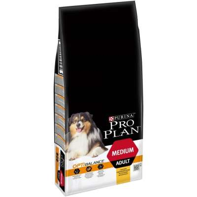 Purina Pro Plan Medium Adult - Optihealth med Kylling  3 kg, 14 kg