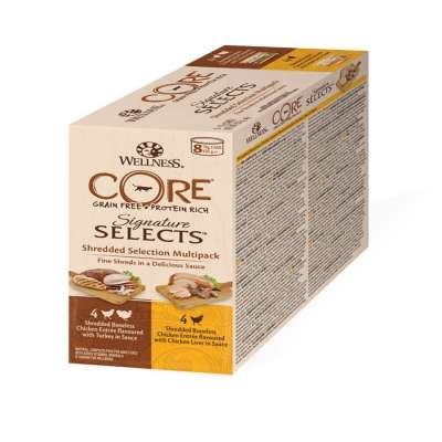 Wellness Core Signature Selects Zerkleinerte Selection Multipack Dosen 8x79 g