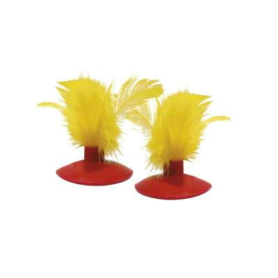 KONG Glide 'n Seek Feather Toy Replacement Yellow