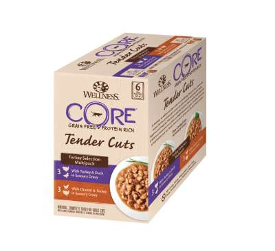 Wellness Core Tender Cuts Pute Selection Multipack Pouchbeutel 6x85 g