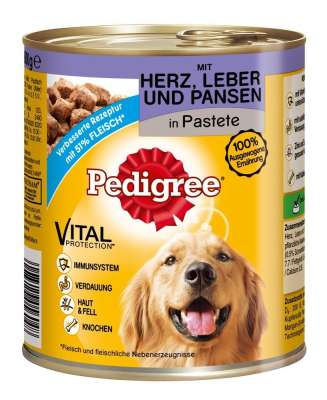 Pedigree Adult with Heart, Liver and Tripe in Pate  400 g, 800 g