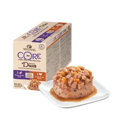 Wellness Tray Core Savoury Duos Poultry Selection Multipack 6x79 g