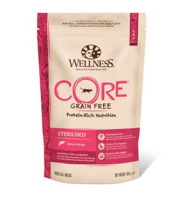 Wellness Core Sterilised mit Lachs 300 g, 1.75 kg
