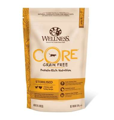 Wellness Core Sterilised au Poulet et Dinde 1.75 kg, 300 g