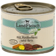 Landfleisch Pur Beef heart & rice with fresh vegetables Can 195 g - Food for junior dogs
