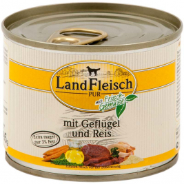 Pur Poultry & Rice extra low-fat with fresh vegetables Can Landfleisch 4003537402299