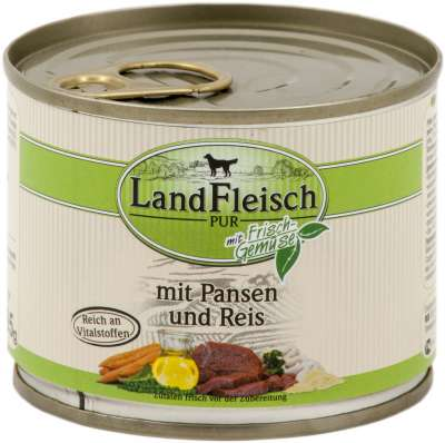 Landfleisch Pur Rumen & Rice with fresh vegetables Can  800 g, 400 g, 195 g