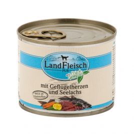 Pur Poultry hearts & Pollock with fresh vegetables Can Landfleisch 4003537403302