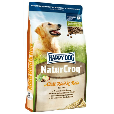 Happy Dog NaturCroq Adult Rind & Reis  18 kg, 15 kg, 4 kg, 1 kg