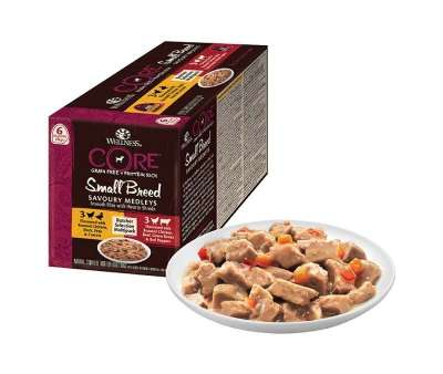 Wellness Core Small Breed Savoury Medleys Séléction de Boucher Multipack Barquettes  6x85 g