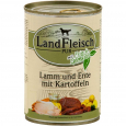 Landfleisch Pur Lamb and Duck with Potato Can 400 g - Hundemat med lam