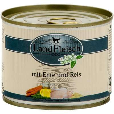 Landfleisch Pur Duck & Rice with fresh Vegetables Can  800 g, 400 g, 195 g