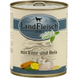 Landfleisch Pur Duck & Rice with fresh Vegetables Can 800 g - Dog food with rice