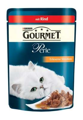 Purina Gourmet Perle Mini Filets in Gravy with Beef Pouch 85 g
