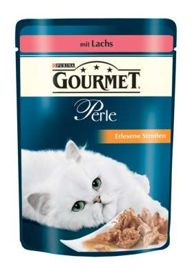 Purina Gourmet Perle Mini Filets in Gravy with Salmon Pouch 85 g